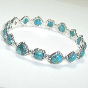 Silpada Turquoise Pools Bangle Bracelet B3218 NEW
